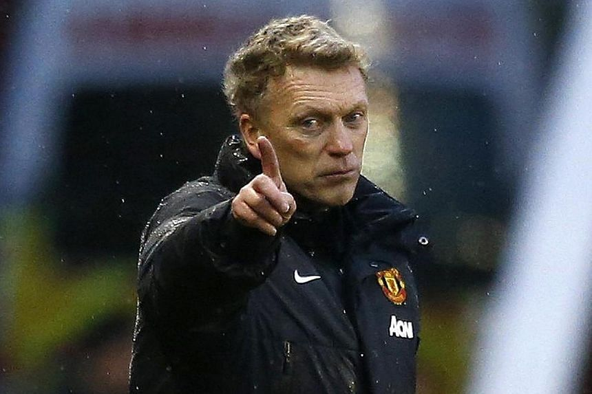 Manchester United manager David Moyes reacts during their English Premier League soccer match against Stoke City at the Britannia Stadium in Stoke-on-Trent, central England on Feb 1, 2014. -- FILE PHOTO: REUTERS