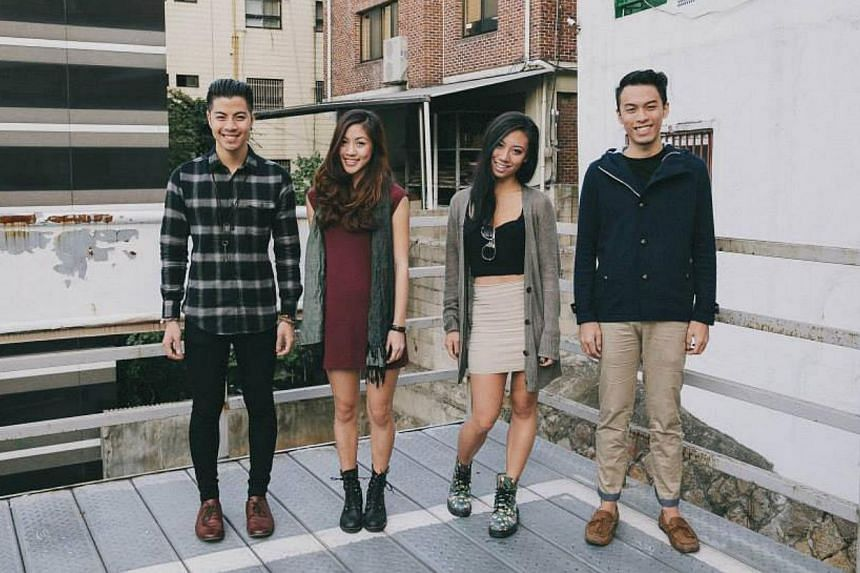 On how his band, The Sam Willows (Kheng, from left, with, sister Narelle and friends Sandra Tang and Jonathan Chua), are perceived. --PHOTO:THE SAM WILLOWS