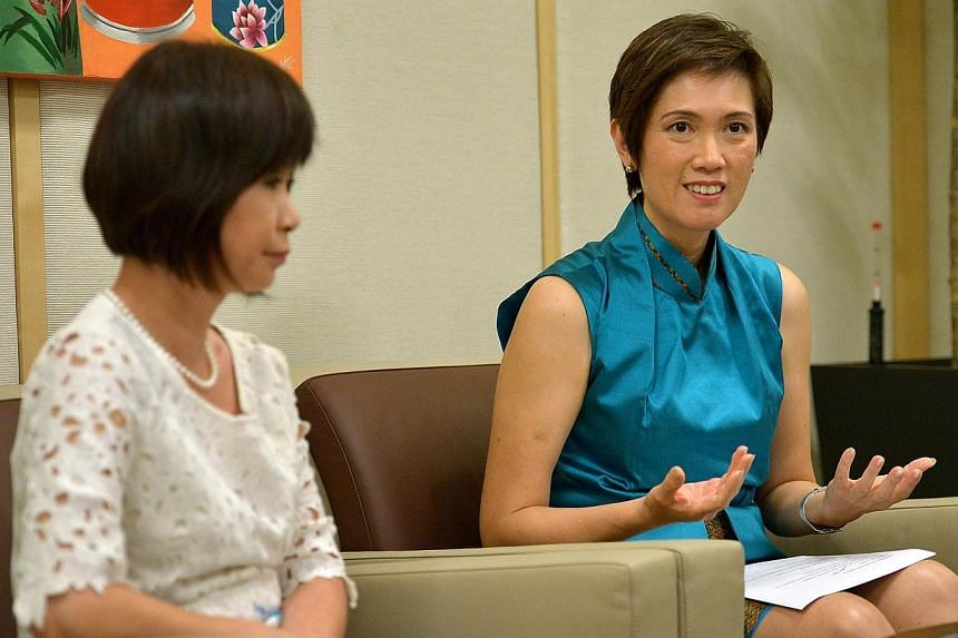 To share more details about the Pioneer Generation Taskforce, the Co-Chairs of the Pioneer Generation Taskforce on Communications and Outreach, SMS Josephine Teo (right) and SMS Dr Amy Khor (left), holds a joint interview session with the media.&nbsp