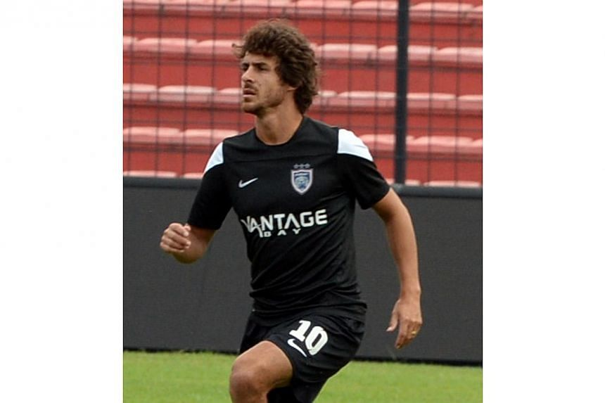 Johor Darul Takzim I (JDTI's) striker Pablo Aimar of Argentina during a training session on Jan 23, 2014. Former Argentinian international playmaker Pablo Aimar has been dumped by his frustrated Malaysian football club Johor Darul Takzim after t