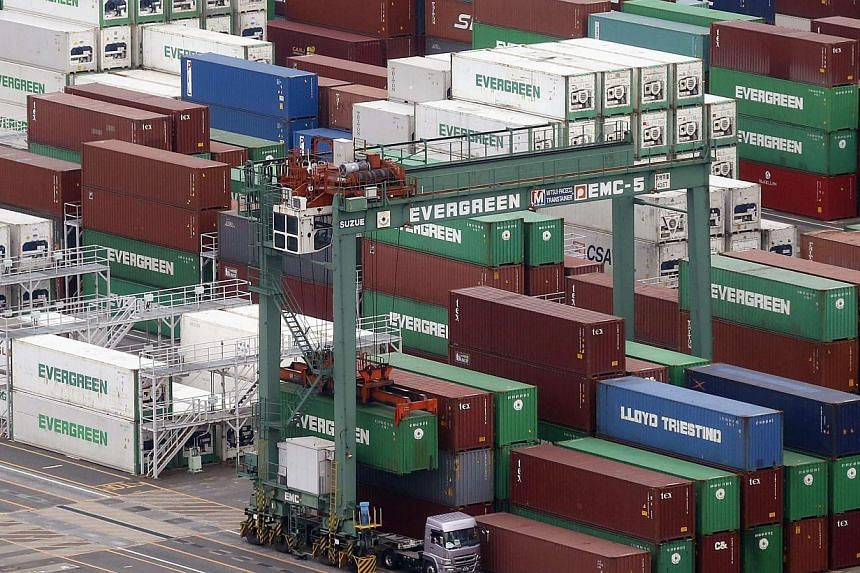 Japan's exports rose 1.8 per cent in March from a year earlier, Ministry of Finance (MOF) data showed on Monday, suggesting that sluggish external demand could put a drag on the economy already hit by the April 1 sales tax hike. -- FILE PHOTO: REUTER