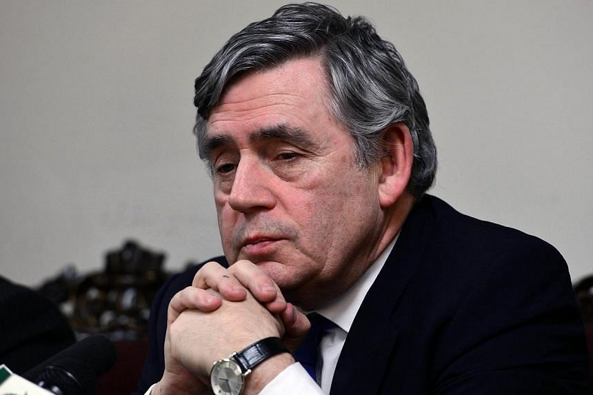 UN General Secretary Special Envoy on Education, Gordon Brown, attends a press conference in Islamabad on March 29, 2014. Former British Prime Minister Gordon Brown is stepping up his efforts to stop Scotland leaving the United Kingdom as opinio