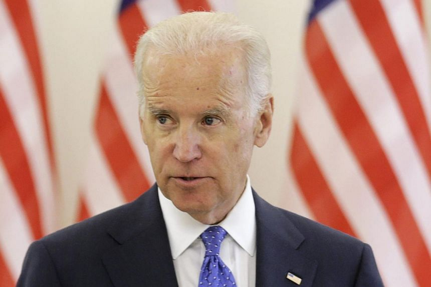 United States Vice-President Joe Biden speaks during a news conference in Vilnius on March 19, 2014. Mr Biden will meet with Ukraine's acting President, Mr Olexander Turchynov, and Prime Minister Arseniy Yatsenyuk during a visit to Kiev on April 22,