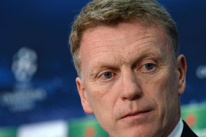 Manchester United's Scottish manager David Moyes addresses a press conference on the eve of the UEFA Champions League quarter-final second leg football match between Bayern Munich and Manchester United in Munich, southern Germany on April 8, 2014. --
