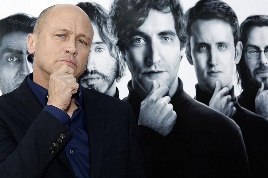 Mike Judge, creator/executive producer, writer and director, poses at the Los Angeles premiere for the new HBO comedy series Silicon Valley at Paramount Studios in Hollywood, California April 3, 2014. HBO is renewing Mike Judge's send-up of the