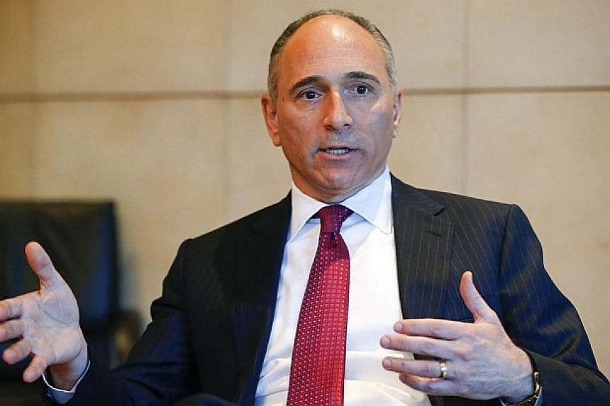 Mr Joe Jimenez, CEO of Swiss drugmaker Novartis gestures during an interview with Reuters at the company's headquarters in Basel on March 19, 2014.Novartis is transforming its business by exchanging certain assets with GlaxoSmithKline and dives