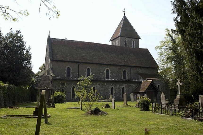 The church of St Mary Magdalene and St Lawrence, the venue for the funeral for Peaches Geldof, is seen in Davington, southeast England on April 21, 2014. -- PHOTO: REUTERS