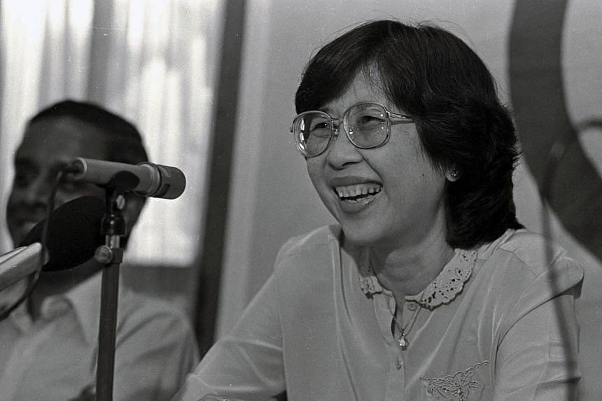 A former Member of Parliament, Dr Dixie Tan, died on Wednesday morning after a two-month illness with brain cancer. -- ST FILE PHOTO:FRANCIS ONG PUAY GUAN