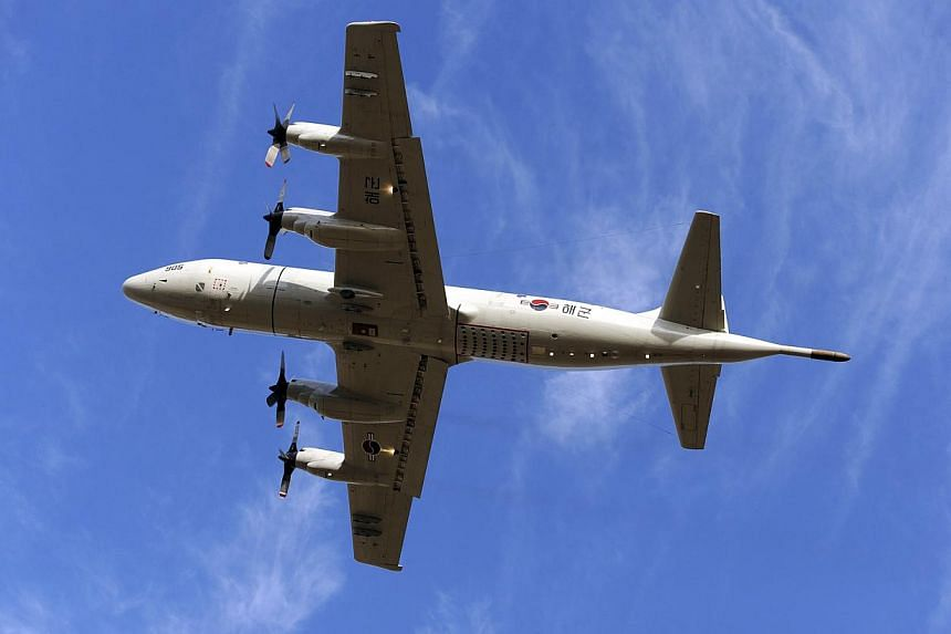 A South Korean P3 Orion aircraft participating in the continuing search for the missing Malaysian Airlines flight MH370 over the southern Indian Ocean on April 17, 2014. -- FILE PHOTO: REUTERS