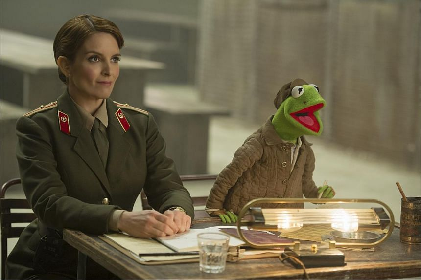 The famous human faces appearing alongside the Muppets include Tina Fey (above) and Ty Burrell. -- PHOTO: WALT DISNEY MOTION PICTURES, SINGAPORE