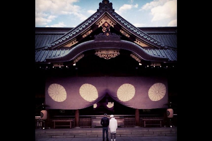 A photo which pop star Justin Bieber posted on his Instagram and subsequently deleted. Bieber courted controversy once again on Wednesday, posting a picture of a Japanese war shrine after an apparent visit to the contentious spot that counts convicte