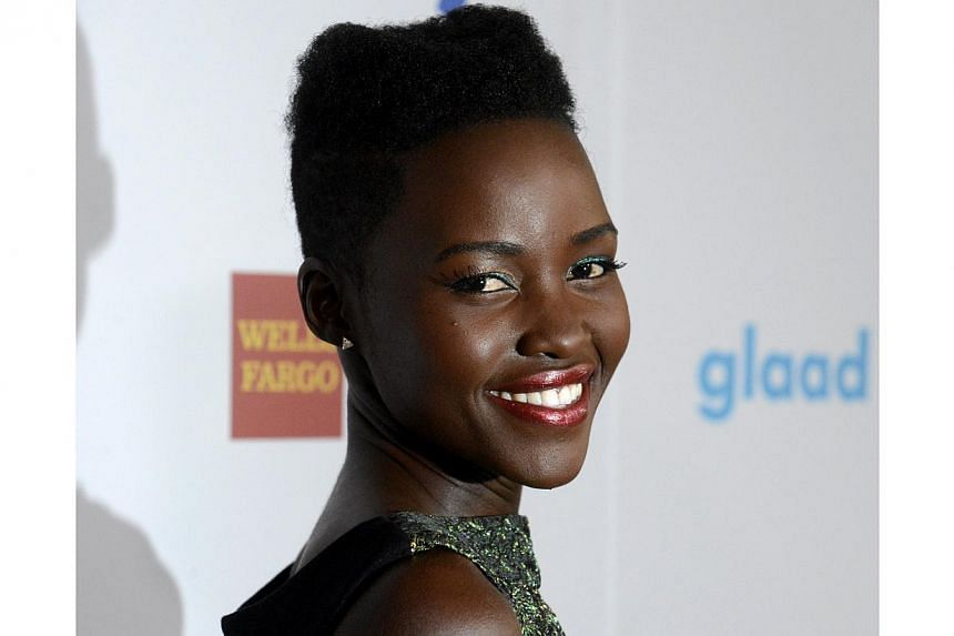 Actress Lupita Nyong'o attends the 25th annual GLAAD Media Awards in Beverly Hills, California on April 12, 2014. -- FILE PHOTO: REUTERS