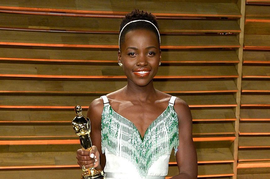 Actress Lupita Nyong'o attends the 2014 Vanity Fair Oscar Party hosted by Graydon Carter on March 2, 2014 in West Hollywood, California. -- PHOTO: AFP