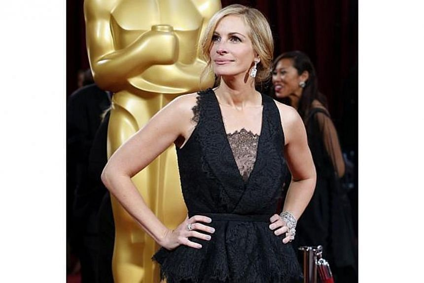 Julia Roberts at the 86th Academy Awards in Hollywood, California, on March 2, 2014. -- FILE PHOTO: REUTERS