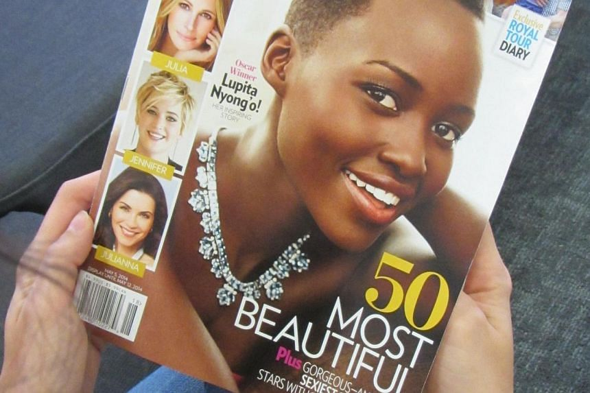 Oscar-winning Kenyan actress Lupita Nyong'o was named Most Beautiful person of 2014 by People magazine on Wednesday, April 23, 2014, following in the footsteps of stars such as Gwyneth Paltrow, Julia Roberts and Tom Cruise. -- PHOTO: AFP