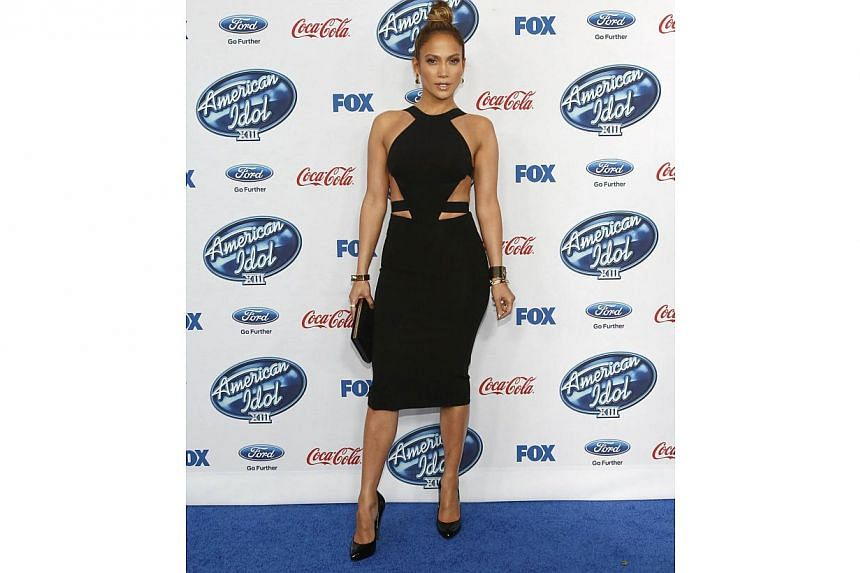 Jennifer Lopez at the party for the finalists of American Idol XIII in West Hollywood, California, on Feb 20, 2014. -- FILE PHOTO: REUTERS