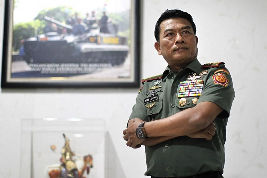General Moeldoko in his residence in Jakarta, Indonesia, on March 25, 2014. -- ST FILE PHOTO:KEVIN LIM