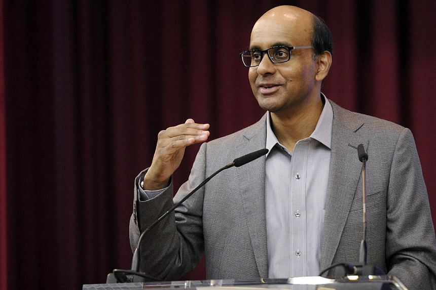 Deputy Prime Minister Tharman Shanmugaratnam will take over as chairman of the Economic Development Board's International Advisory Council with effect from May 1. -- ST FILE PHOTO: JOSEPH NAIR