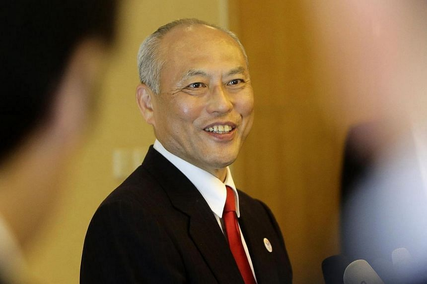 "Tokyo Governor Yoichi Masuzoe speaks to the media at a hotel in Beijing on April 24, 2014. The governor of the Japanese capital Tokyo said on Thursday, April 24, 2014, there was ""great significance"" in his visit to the Chinese capital and the tr"