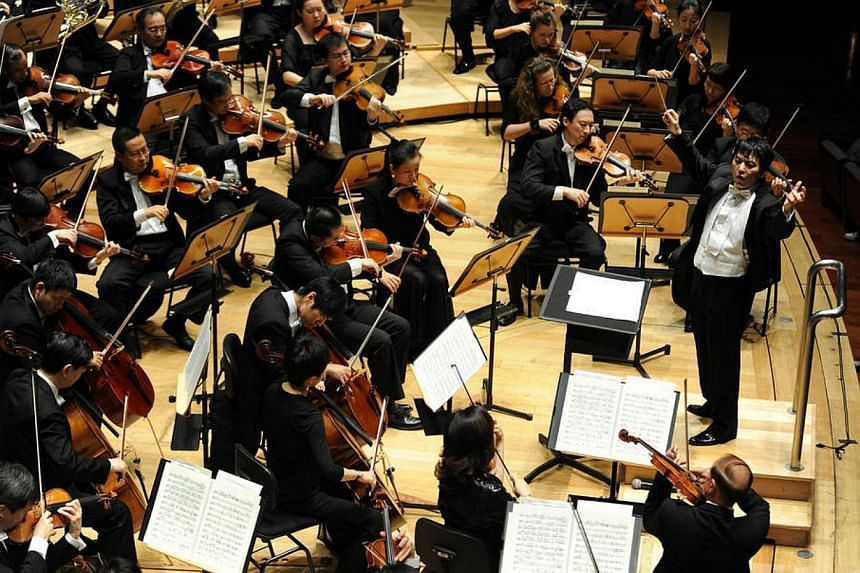 Lan Shui conducts the Singapore Symphony Orchestra.The Singapore Symphony Orchestra (SSO) will be presenting a concert at the prestigious BBC Proms music festival for this first time this year. -- FILE PHOTO:SINGAPORE SYMPHONY ORCHESTRA
