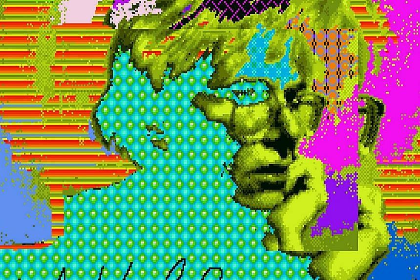"""A digital image called """"Venus, 1985"""" created by Andy Warhol and retrieved from a floppy disk, courtesy of The Andy Warhol Museum. -- PHOTO: REUTERS"""