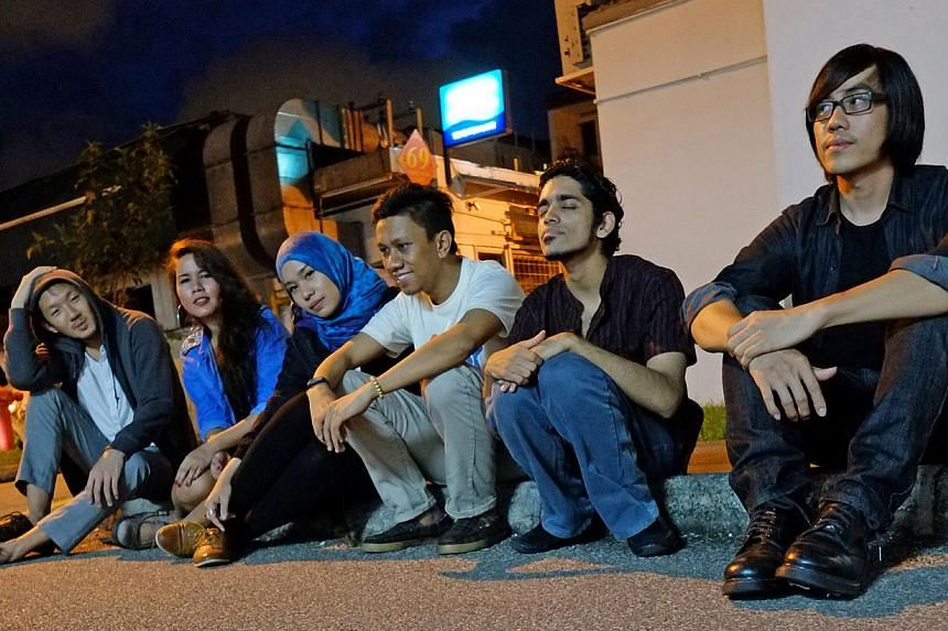 Home-grown indie-folk music group Seyra (above) and poets Gideon + Allee, comprising Gideon Goh and Allee Koh.-- PHOTO: MARC NAIR
