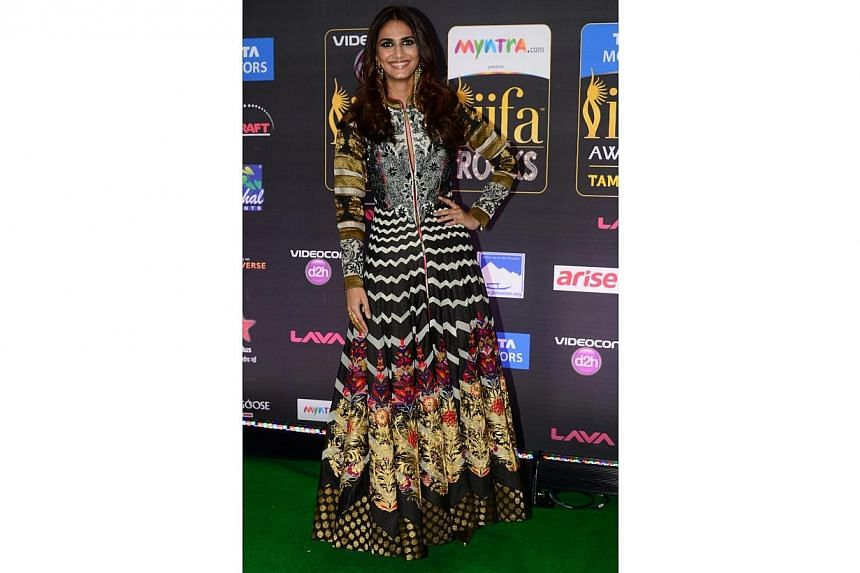Bollywood actress Vaani Kapoor arriving for the IIFA Rocks event at the Tampa Convention Center in Tampa, Florida, on April 24, 2014. -- PHOTO: AFP