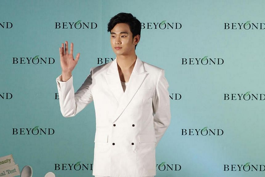 South Korean star Kim Soo Hyun will donate 300 million won (S$362,000) to Danwon High School, the Korean school whose students were aboard the ferry which sank in the April 16 disaster, reports quoting his management agency said. -- PHOTO: APPLE