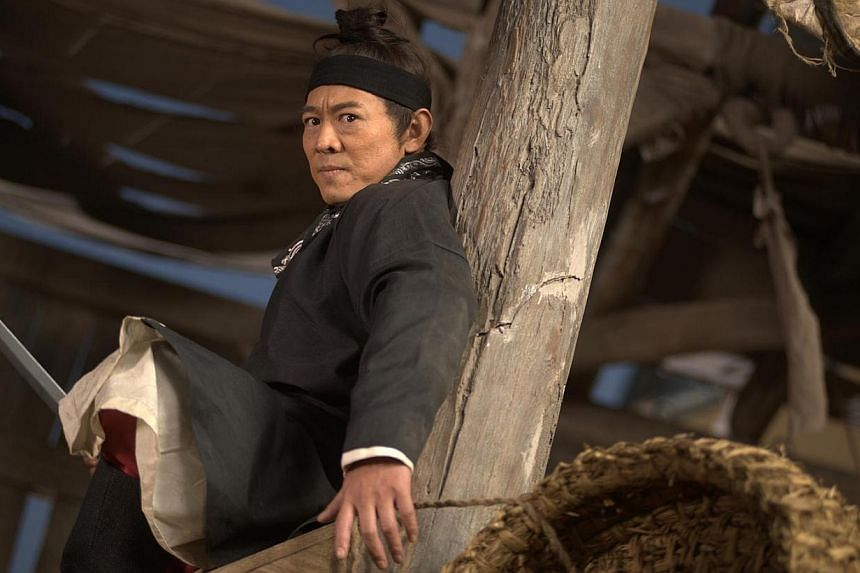 Cinema still: Flying Swords Of Dragon Gate, starring Jet Li. A lawyer's letter sent on behalf on actor Jet Li said he would sue a Chinese website for slander for saying he embezzled 300 million yuan (S$60.4 million) in charity funds meant for vi