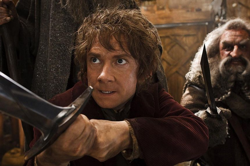 """A cinema still from The Hobbit: The Desolation of Smaug. Director Peter Jackson has announced that the final installment of the blockbuster """"Hobbit"""" film trilogy has been given a new name. -- PHOTO:WARNER BROS"""