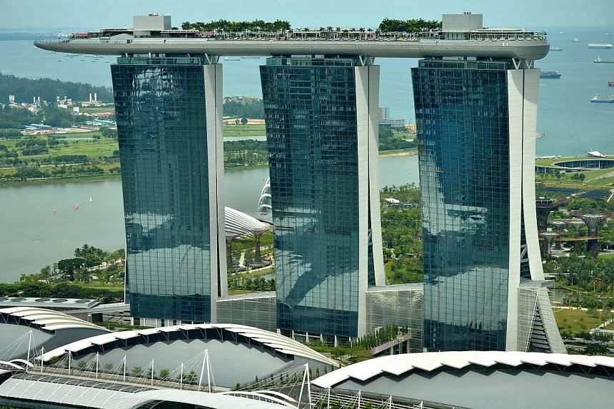 Marina Bay Sands has posted a net profit of US$435.2 million (S$547.7 million) for its first quarter this year, up 9.7 per cent from a year ago.-- ST FILE PHOTO:KUA CHEE SIONG