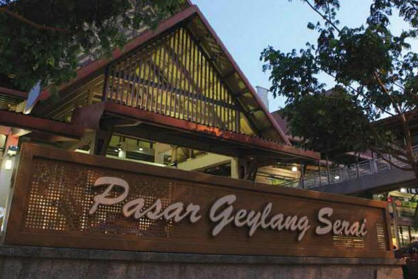 The Pasar Geylang Serai today after a $18.2-million overhaul, which took 40 months to complete.-- PHOTOS: SINGAPORE PRESS HOLDINGS AND NATIONAL HERITAGE BOARD