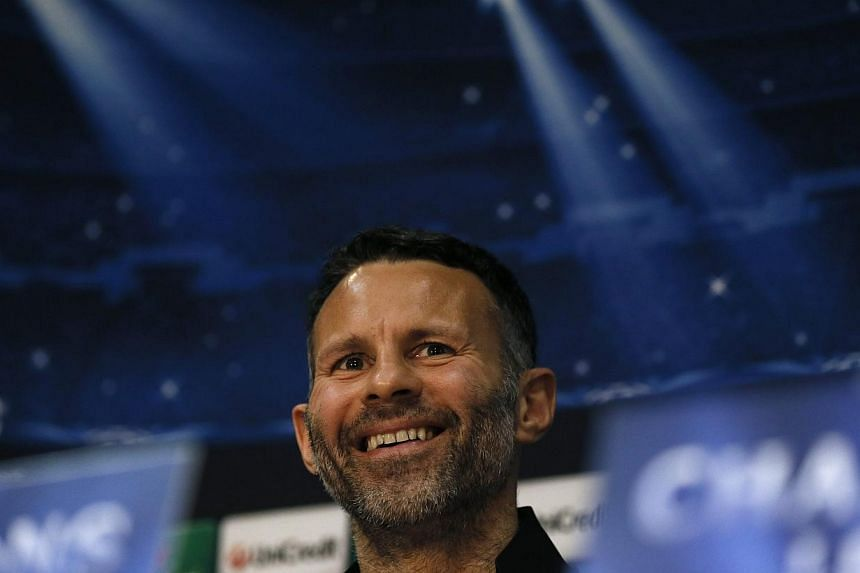 Ryan Giggs thanked sacked Manchester United manager David Moyes on Friday, April 25, 2014, for giving him his first role in coaching and said he was proud to take charge of the club for the last four games of the season. -- FILE PHOTO: REUTERS