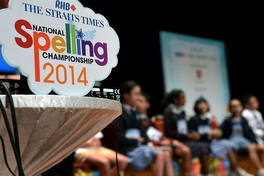 The grand finals of the ST-MOE National Spelling Championship where 25 finalists will vie to be Singapore's top speller. -- ST PHOTO: KUA CHEE SIONG