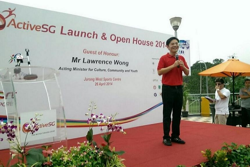 Acting Minister for Culture, Community and Youth Lawrence Wong announced the move on Saturday afternoon, as the initiative was officially launched at Jurong West Sports Centre. -- PHOTO: TWITTER/STSPORTSDESK