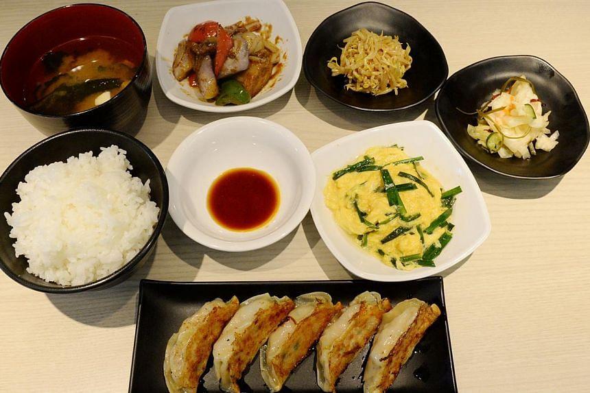 A meal at Gyoza King. -- ST PHOTO: AZIZ HUSSIN