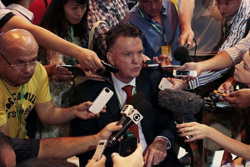 Netherlands coach Louis van Gaal (centre), the front-runner to snare the United hot seat, has enjoyed success throughout his career with Ajax, Barca, AZ and Bayern even without staying long at each.