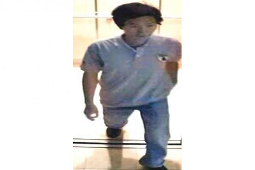 Police are looking for this man to assist with investigations into a case of loanshark harassment near Serangoon Avenue 4 on April 15. -- PHOTO: SINGAPORE POLICE FORCE