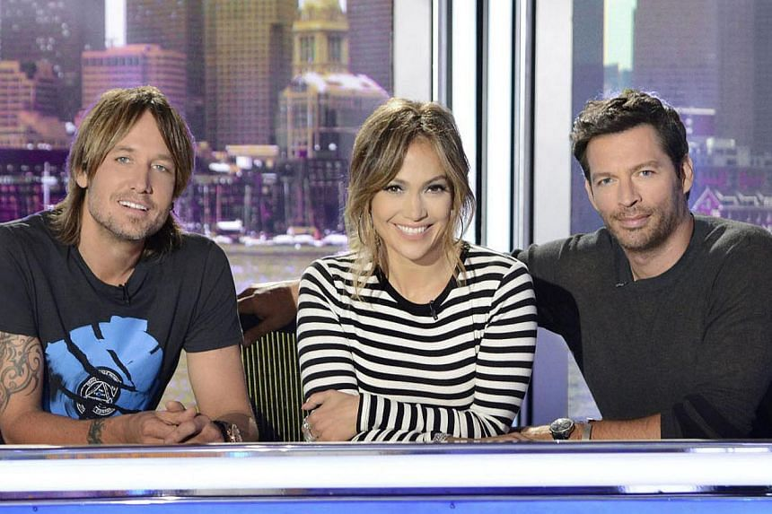 Judges for this season are (above from left) Keith Urban, Jennifer Lopez and Harry Connick Jr. -- PHOTO: STAR WORLD