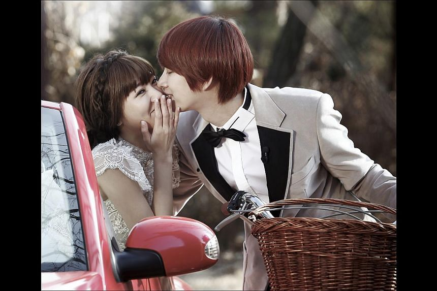 The latest season of the popular reality show has two new celebrity pairs pretending to be married couples: Kim Hee Chul from boy band Super Junior with Taiwan's Puff Kuo of girl group Dream Girls (both above), as well as Key from South Korean boy