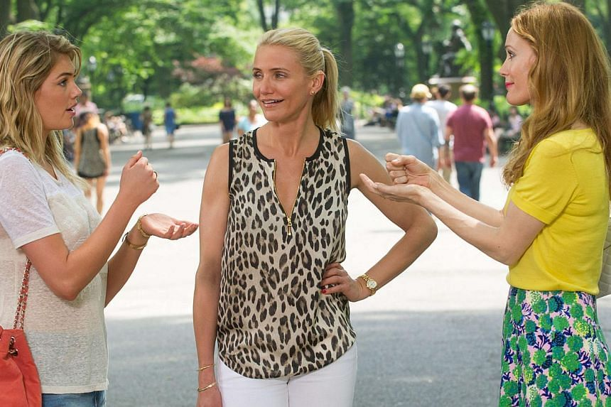 Cinema still: The Other Woman starring (from left) Kate Upton, Cameron Diaz and Leslie Mann. -- FILE PHOTO: FOX