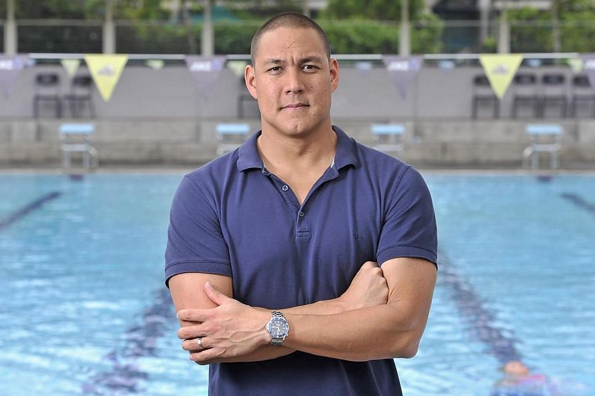 Geoff Huegill at the swimming pool within the Australian International School. Former Australian Olympic swimmer Geoff Huegill apologised on Tuesday, April 29, 2014, after being charged with cocaine possession as he faced a professional backlash