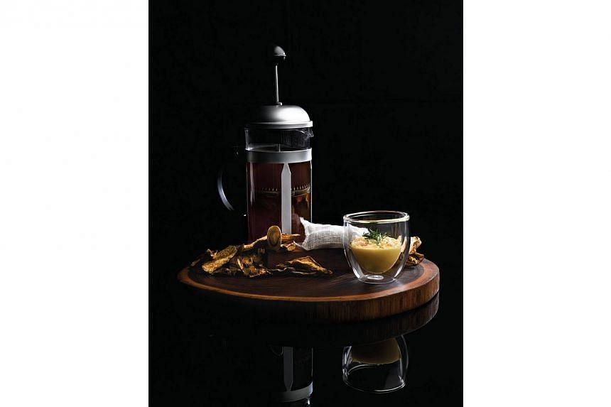 Mushroom tea from Jaan. -- FILE PHOTO: JAAN