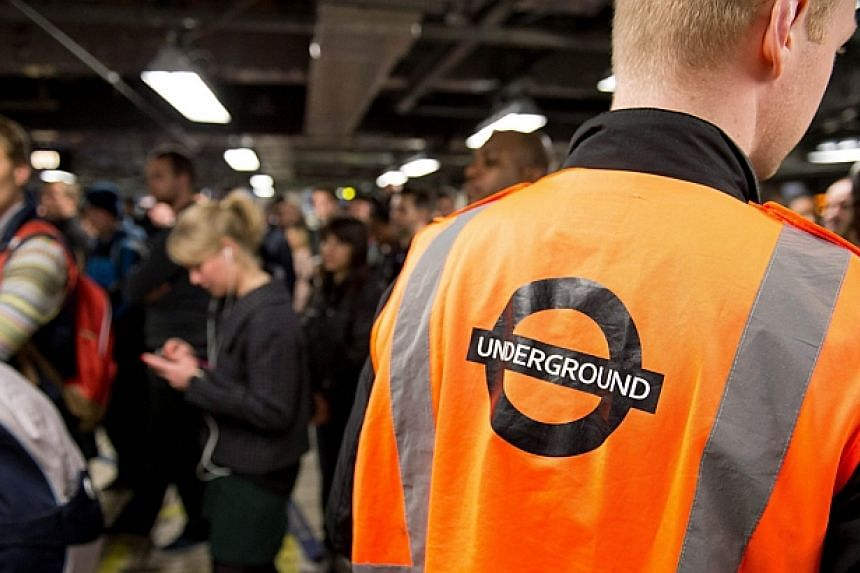 Large crowds gather as the station gates remain closed into rush hour at Victoria station in London, on April 29, 2014, as a planned 48 hour underground train strike came into effect late Monday night, April 28, 2014, night. -- PHOTO: AFP