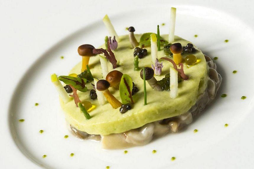 Salt, a dish from the degustation menu at Restaurant Andre. -- FILE PHOTO:RESTAURANT ANDRE