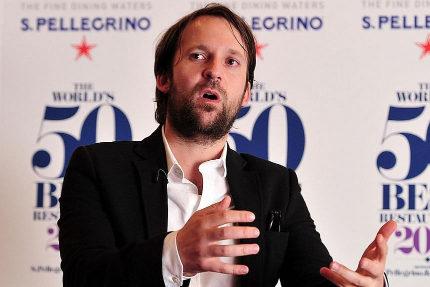Rene Redzepi, head chef of Danish restaurant 'Noma', addresses the media after his restaurant won first place at the World's 50 Best Restaurants Awards 2014, at the Guildhall in central London on April 28, 2014. -- PHOTO: AFP