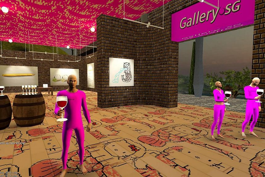 Gallery.sg simulates the environment of a brick- and-mortar art gallery.