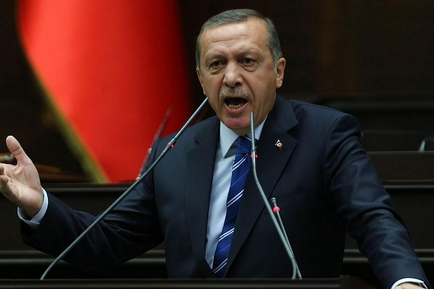 Prime Minister Tayyip Erdogan said on Tuesday, April 29, 2014, he would ask the United States to extradite an Islamic cleric he accuses of plotting to topple him and undermine Turkey with concocted graft accusations and secret wire taps. -- PHOTO: AF