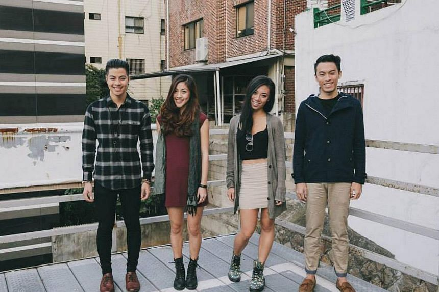 Home-grown indie band The Sam Willows comprise siblings (from left) Benjamin and Narelle Kheng, as well as (from right) Jonathan Chua and Sandra Tang. -- FILE PHOTO:THE SAM WILLOWS