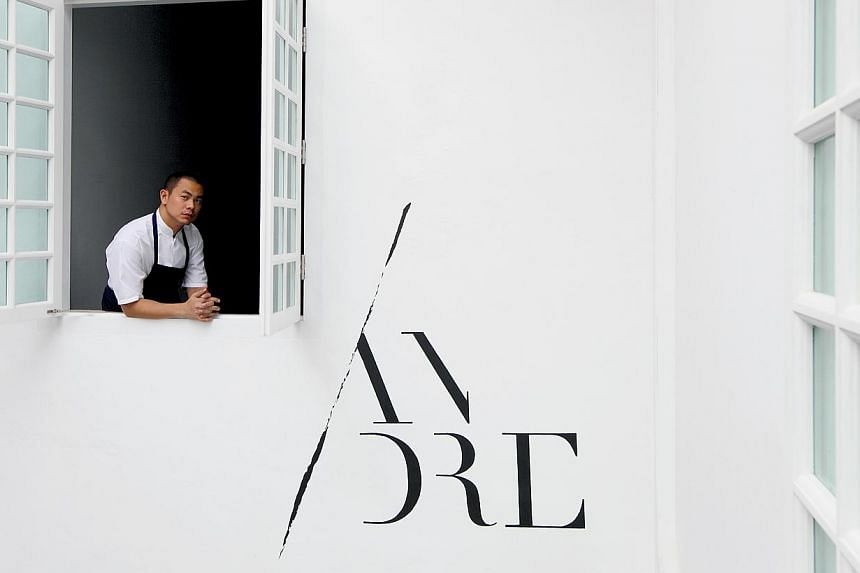 Chef Andre Chiang, owner and chef of Restaurant Andre at 41 Bukit Pasoh Road. -- FILE PHOTO: RESTAURANT ANDRE